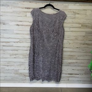 Woman's lace semi cocktail dress
